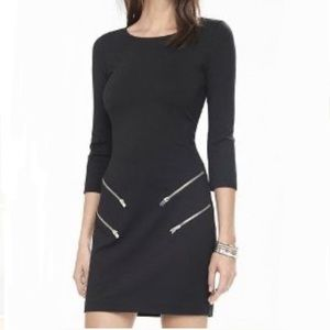Express Black Dress with Silver Zippers Size XS